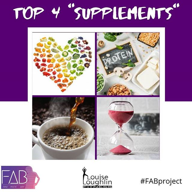 Top 4 Supplements for fat loss, as adapted from @syattfitness 🔢 I actually posted this a year ago and I still haven't changed my mind much on this. I just know more know, since starting my studies to become a Nutritionist with @macnutrition under the guidance of @martinnutrition Follow him 💜  When it comes to fat loss there's nothing money can buy to get you to lose weight. That's not very sexy, or lucrative, but it's simply the truth. Unless you have a chronic disease, that needs medicine intervention, then there's no reason you shouldn't be losing weight, in a calorie deficit.  1️⃣ FRUITS AND VEGGIES. The best diet results come when you increase your intake of fruit and veg. You get more micronutrients, water and fibre into your diet. Are you getting 7+ servings a day?  2️⃣ PROTEIN. We will discuss everything in more detail. But basically increasing your protein has a huge effect on fat loss. It keeps you full, builds muscle and boosts your immune system, as well as benefiting from having a higher thermogenic effect. I.e you burn extra calories eating it.  3️⃣ COFFEE. Caffeine from coffee or green tea can give you a huge boost before you do a workout. So you work harder and burn more calories. It can also blunt hunger, as it does for me. I just drink black coffee, Americano or Espresso please and make it a @bailiescoffee or @calendar.coffee for extra awesomeness.  4️⃣ TIME. Give it time. You won't lose the weight overnight. Heaven knows it didn't just come on you overnight. It's going to take patience and time. You're going to have to stick to the plan, man, even if you have a bad day. Monthly and weekly progress can be motivation rather than just looking at the scales daily. 💜 I'll share with you some scientific backed supplements over the next few post. But in the meantime I'd love to hear what you think a out those 4 simple and natural supplements that everyone has access to. How can I help you? 💜 #FABproject #macnutritionuni #nutritionist #eatrealfood #healthyliving #healthyfood #galwayfitfam #galwayfood