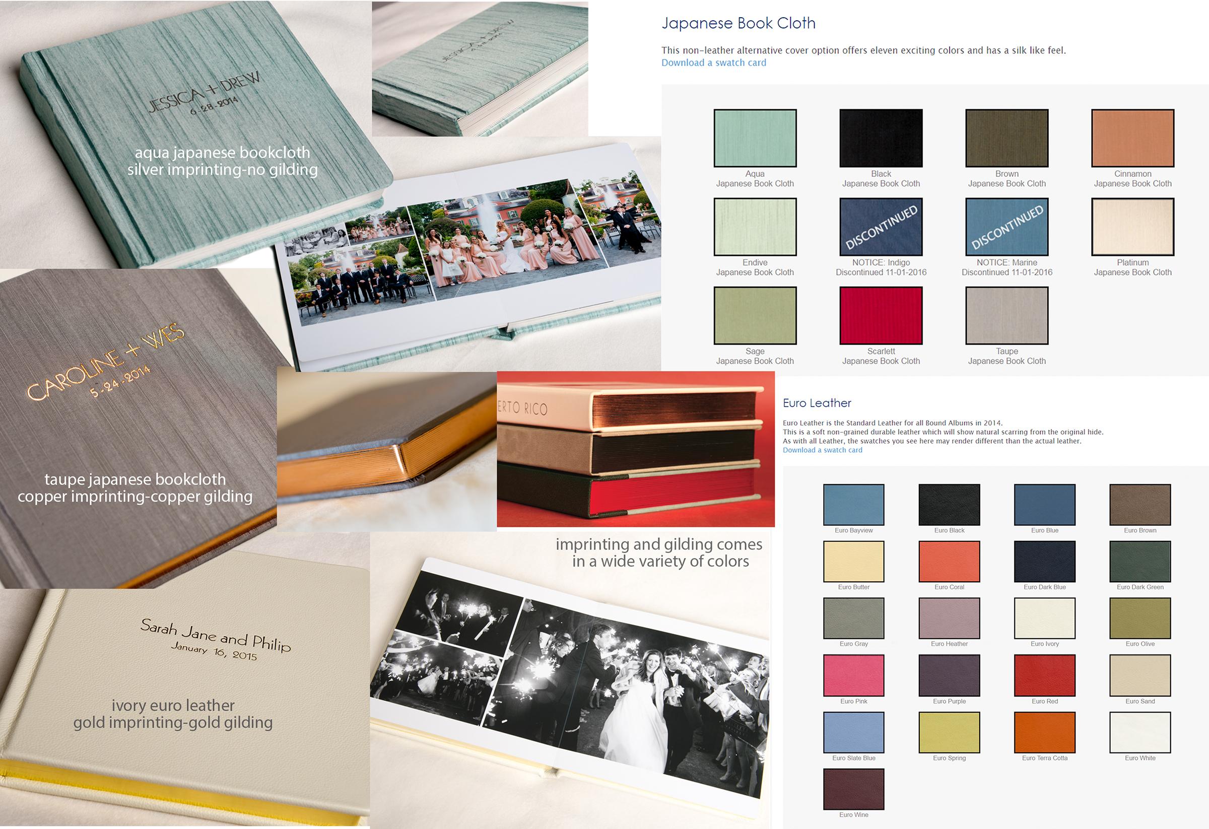 JFR album leather bookcloth gilding samples.jpg