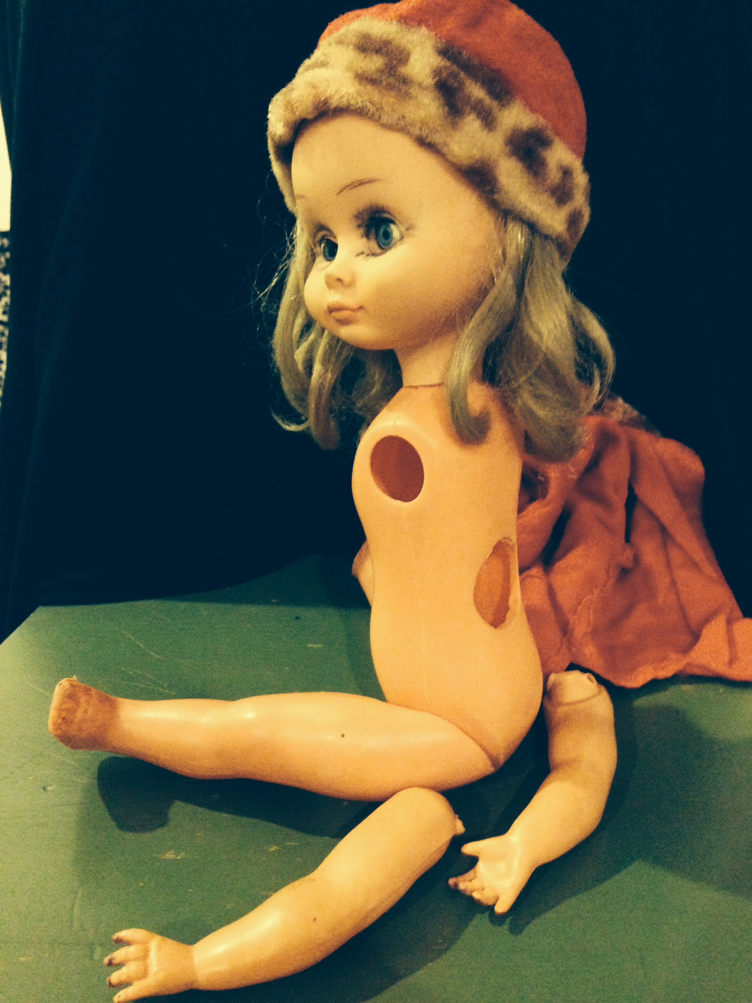 Cynthia's childhood doll, ripped apart by an Iraqi police officer searching for a spying device