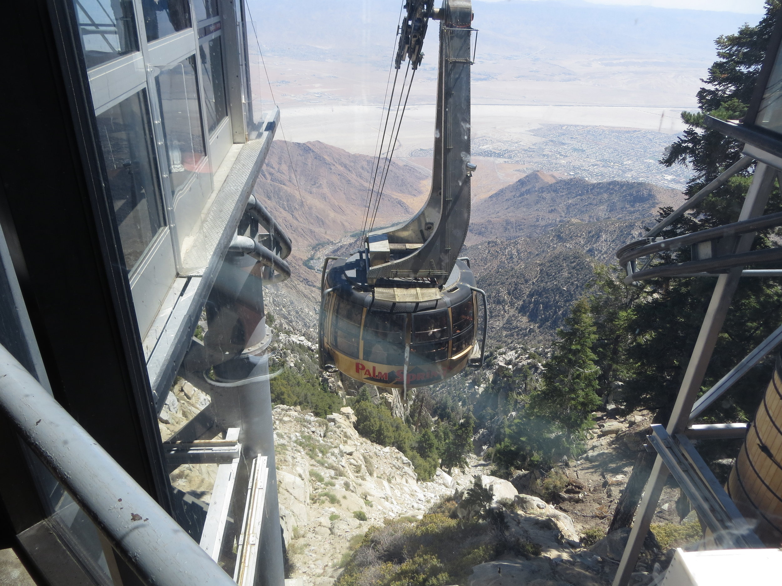 Aerial tram, as seen from the top station