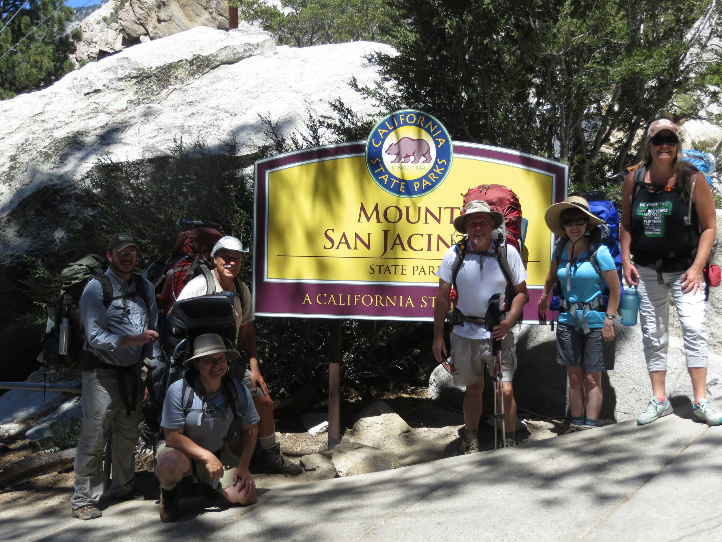 The beginning of the hike to camp, and 30º cooler