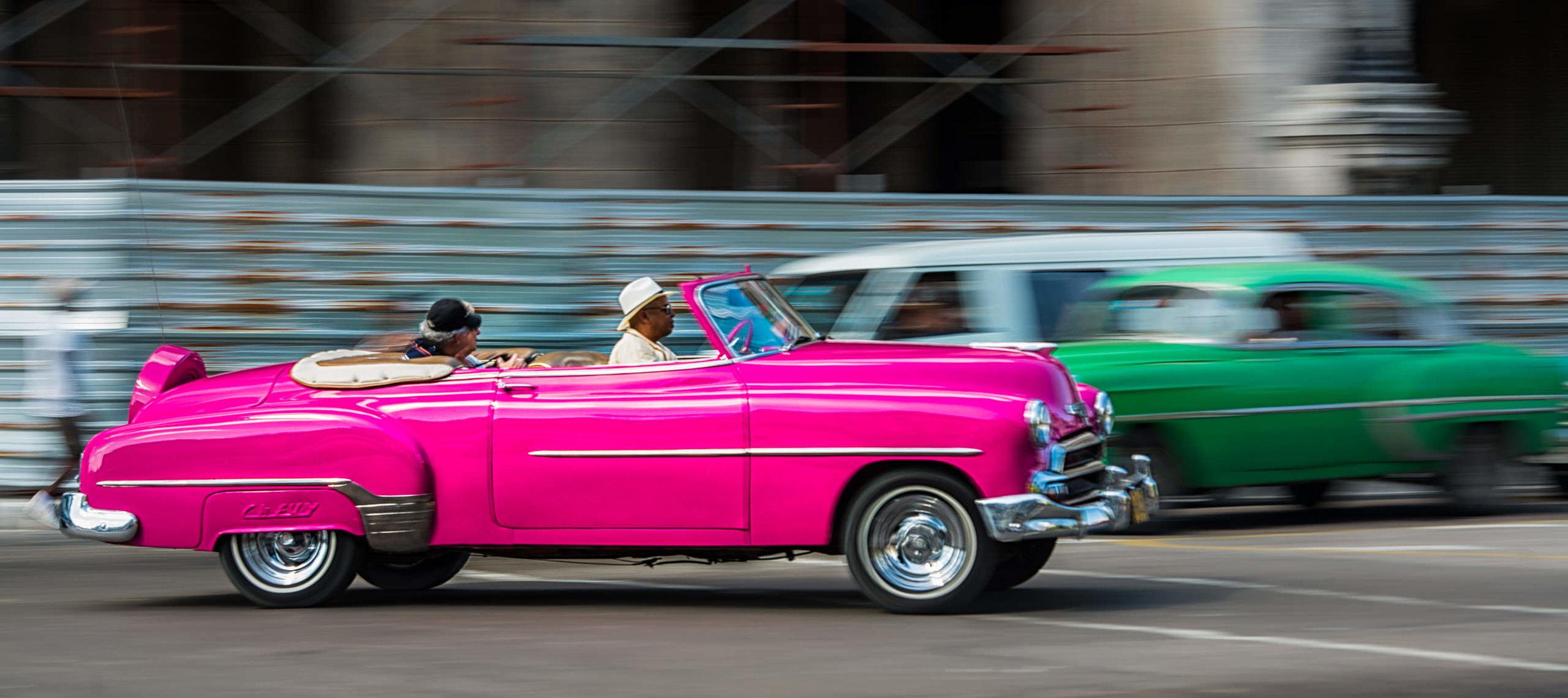 Moving Taxi, Havana Cuba