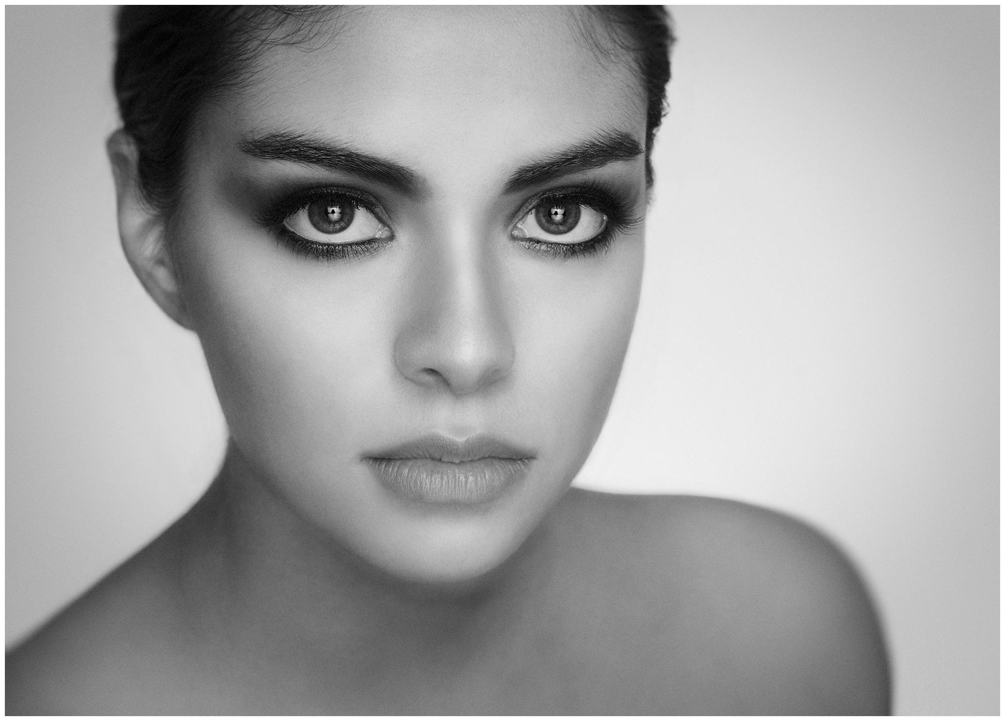 Portrait of Mexican Model Fernanda Paz Ojeda by Richard Cawood