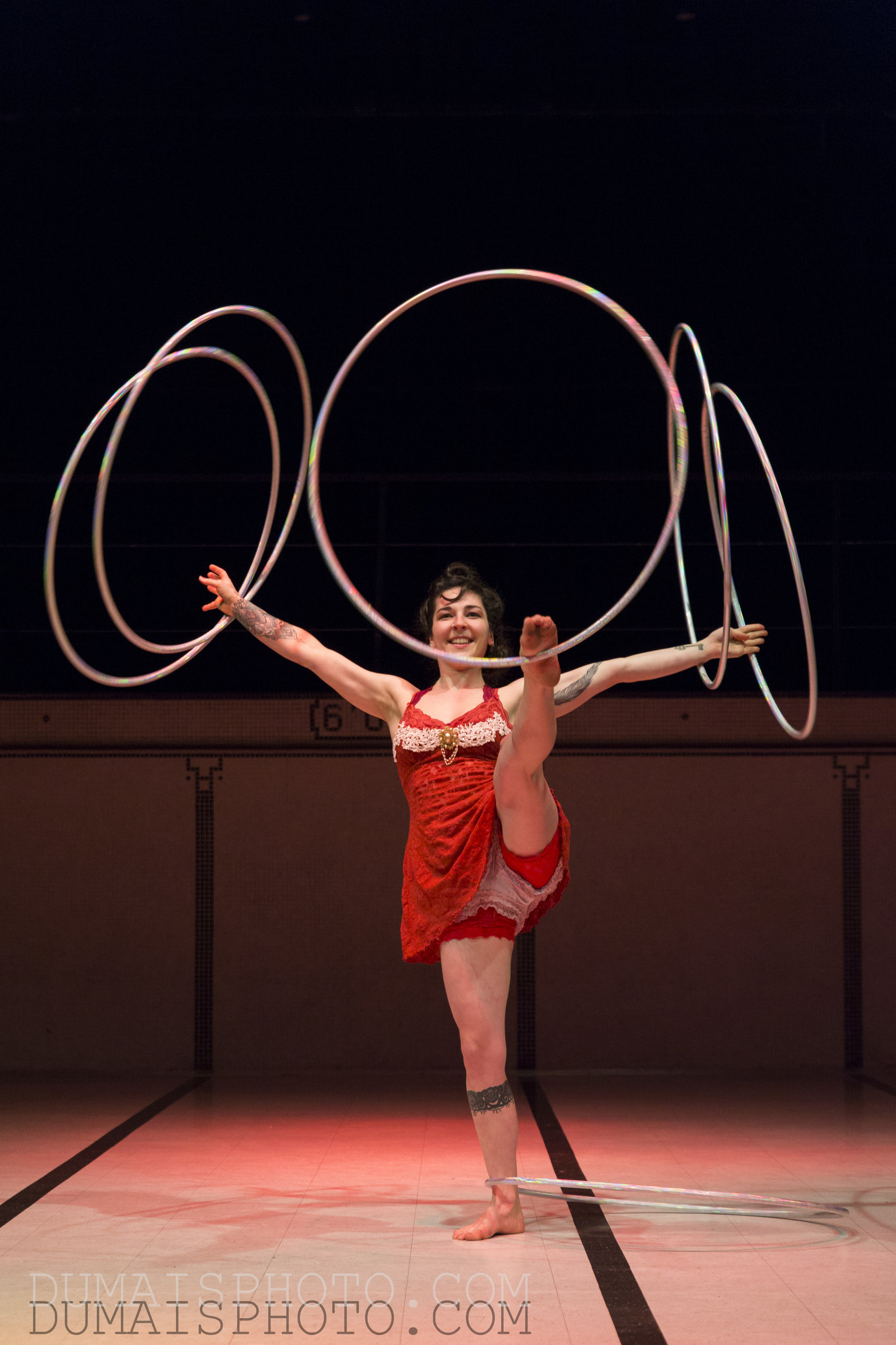 Performance au sol - Hula hoop