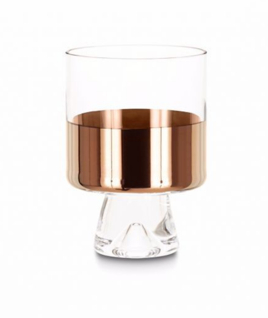 $75 - Tom Dixon copper low-ball glasses (x2)   Tom Dixon has some of my favorite glassware. These lowball glasses are so chic and the copper accent makes these glasses a must have!