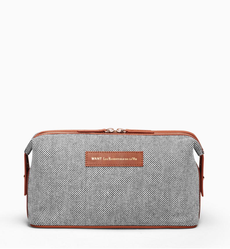 $140 - WANT Les Essentiels dopp kit   I love this brand so much! Everything they do is perfect. This dopp kit is the perfect trendy travel accessory. The leather detailing is amazing too!