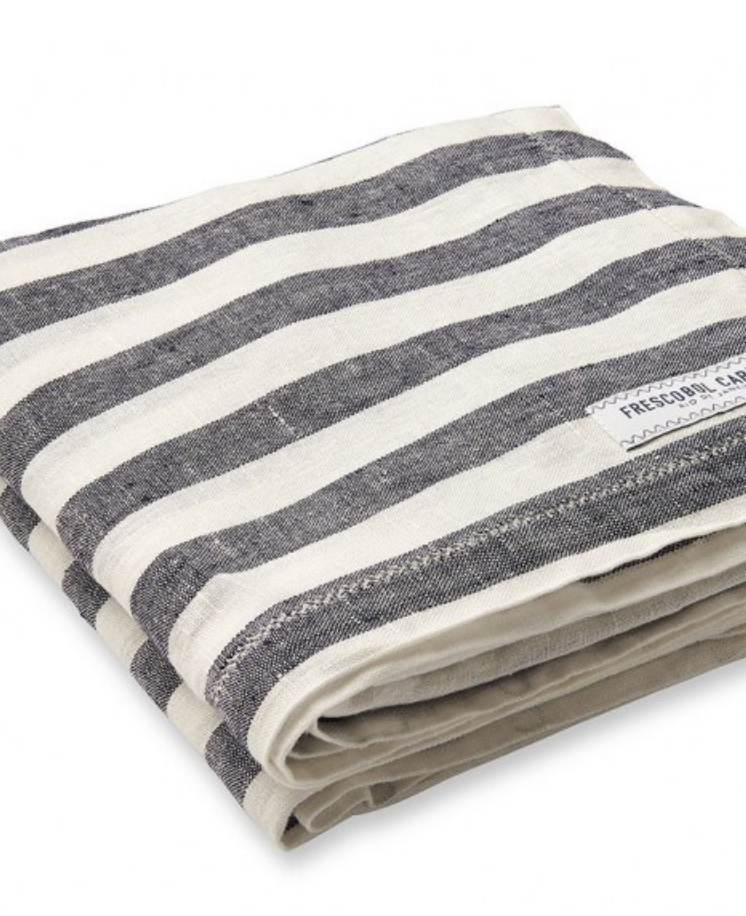 $160 - Frescobol Carioca linen towel   Frescobol Carioca makes some of the best linen products in my opinion! This beach towel is a necessity for any tropical getaway you may have planned.