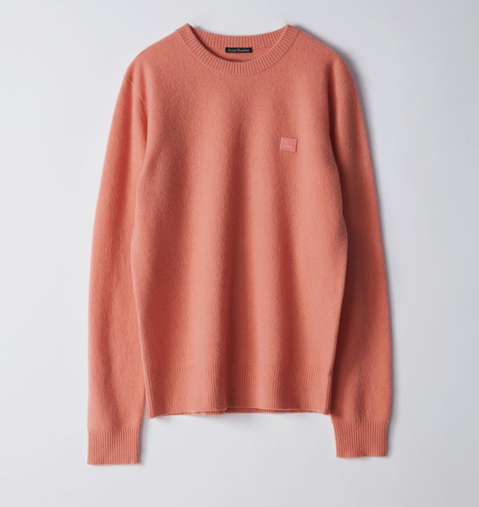 $300 - Acne pale pink sweater   I'm obsessed with Acne's pale pink color. This sweater is no exception. Pair it with a dark pair of jeans and some white sneakers and you're set!!