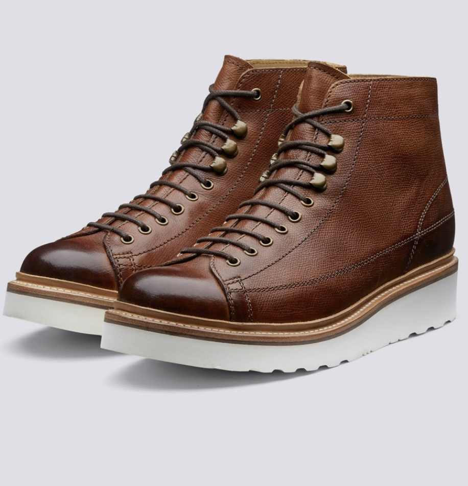 $350 - Grenson Andy boot   Grenson sells some of my favorite boots! I love these tan mid calf boots. The white soles give it such a retro-chic look.
