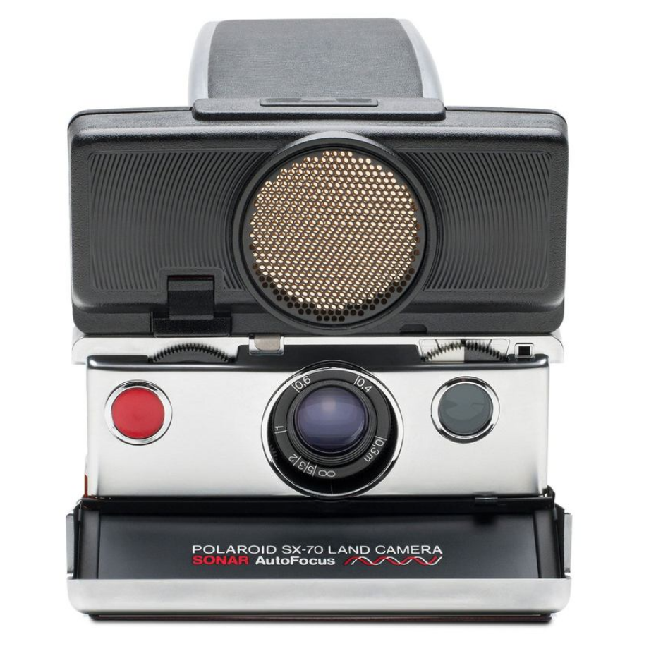 $420 Polaroid SX-70 Camera - Autofocus   Who doesn't love a good instant camera! This is the perfect gift for a photographer or someone that loves taking photos and/or is just creative. It's not one of those cheap $30 dollar instant cameras, but I think this is a fabulous gift even with the $400 price tag.