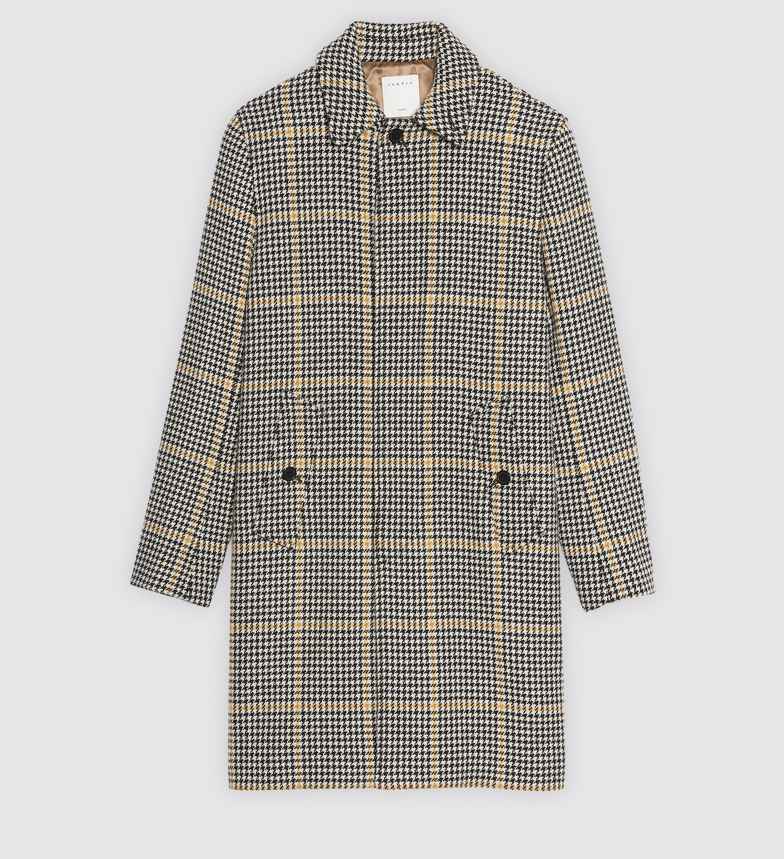 $575 - Sandro Checked coat   Same length as the A.P.C. coat, but definitely more of a statement piece! I've loved plaid this season and love the combo of the small plaid and the larger plaid. SO GOOD! And it's on SALE!