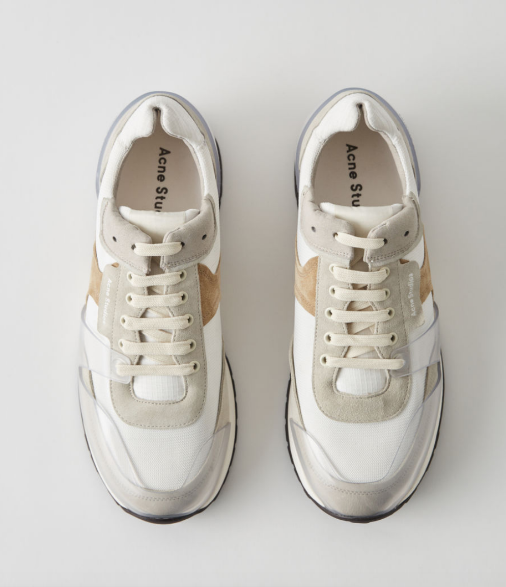 """$410 - Acne vintage running sneakers   I'm not really into that """"dad shoe"""" trend, but these Acne shoes are a great in-between if you're not 100% committed to the dad shoe look! I love the colors of these too. Such a great gift!!"""