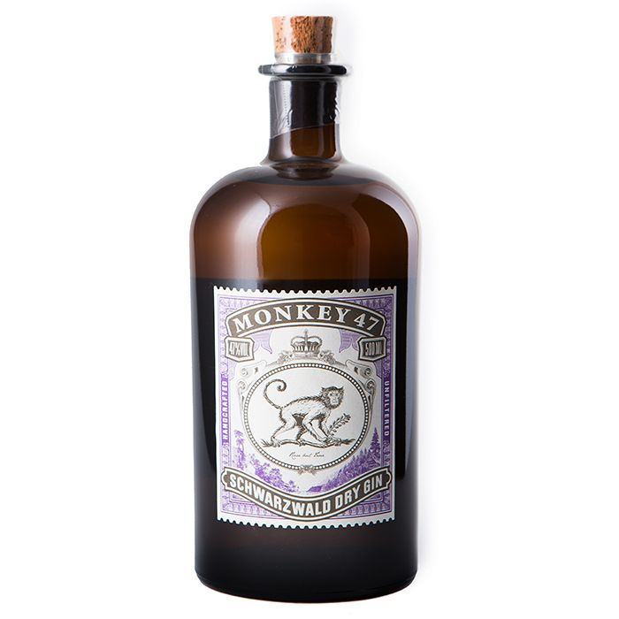 $45 - Monkey 47 Gin   If you follow me on Instagram, you've definitely seen me post about this gin. It's one of my favorites!! This 375ml bottle is the perfect gift size too.