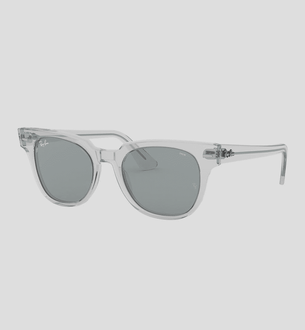 """$160 - Ray-Ban Meteor Evolve (clear)   I love clear framed glasses, and these Ray-Ban's are awesome! The shape is different to what you normally see and the """"Evolve"""" lens's change shades depending on how much sun you're in."""