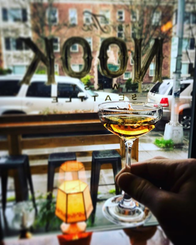 It's warm and dry in here. Come warm up with us 🥃  #thenook #thenookseattle #cozy #cocktails #whiskey