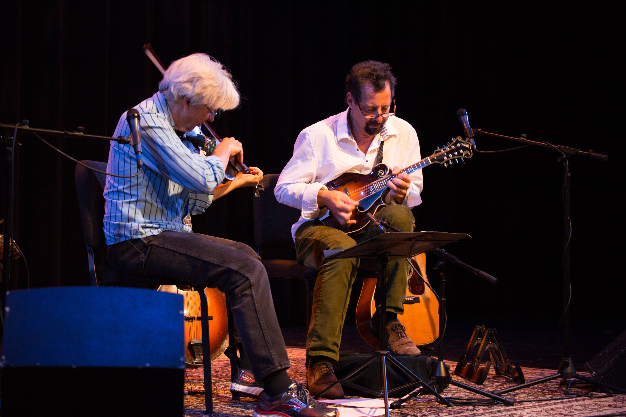 Darol Anger with Mike Marshall playing the Northfield Artist Series.