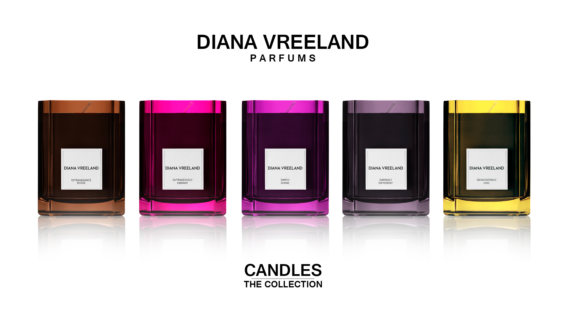 DIANA VREELAND CANDLES - THE COLLECTION