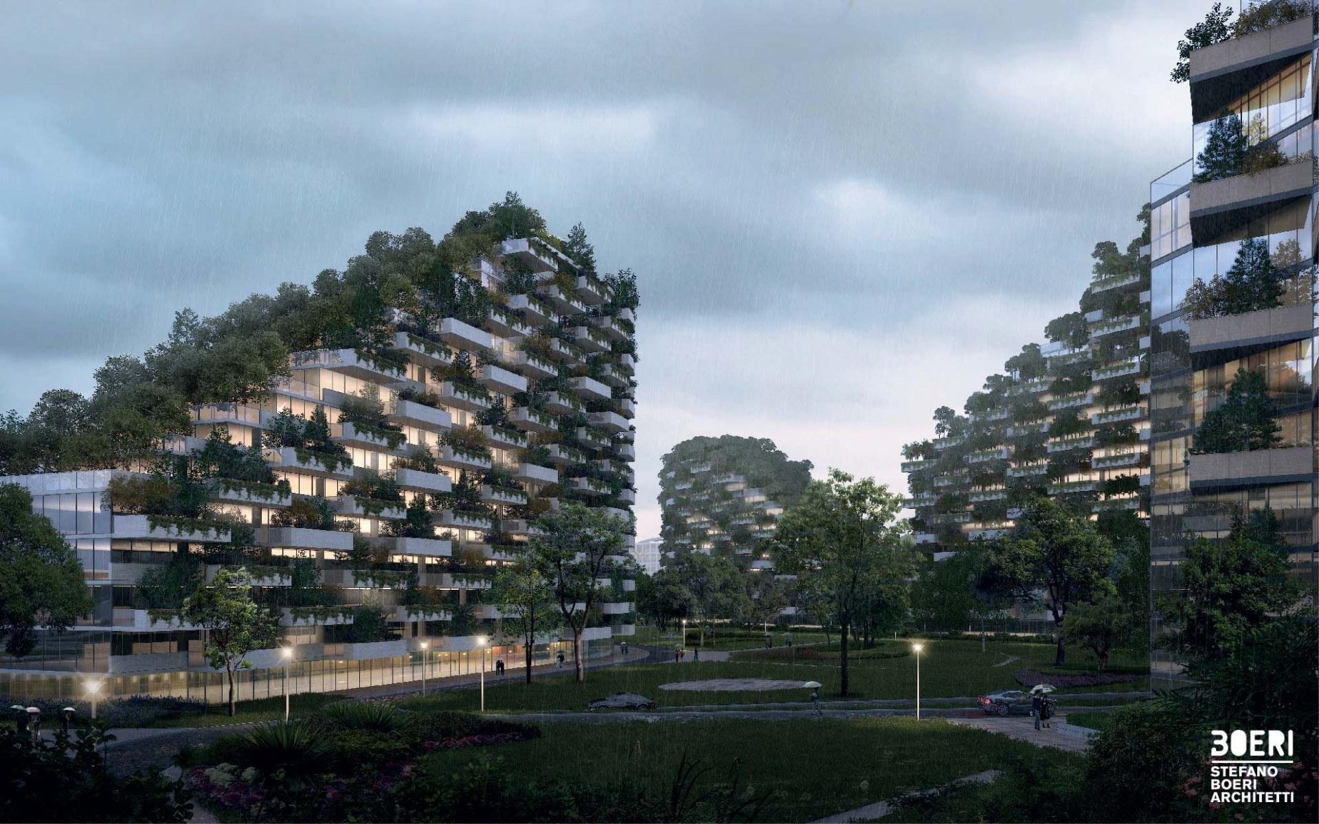 """Proyecto de edificios de la """"Ciudad Bosque"""" de Liuzhou (China)"""