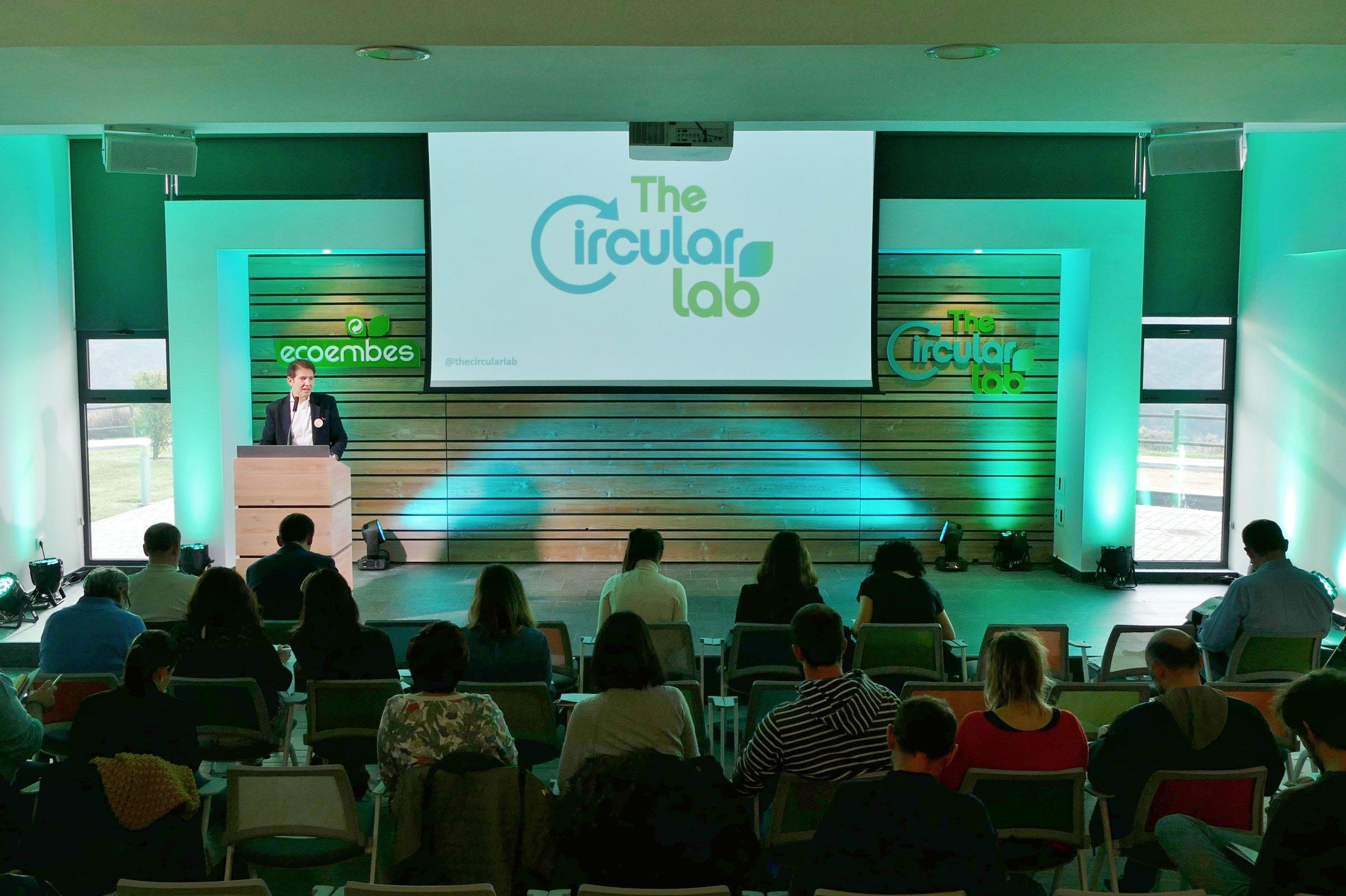 Óscar Martín, Consejero Delegado de Ecoembes, presenta a los medios las actividades de TheCircularLab.