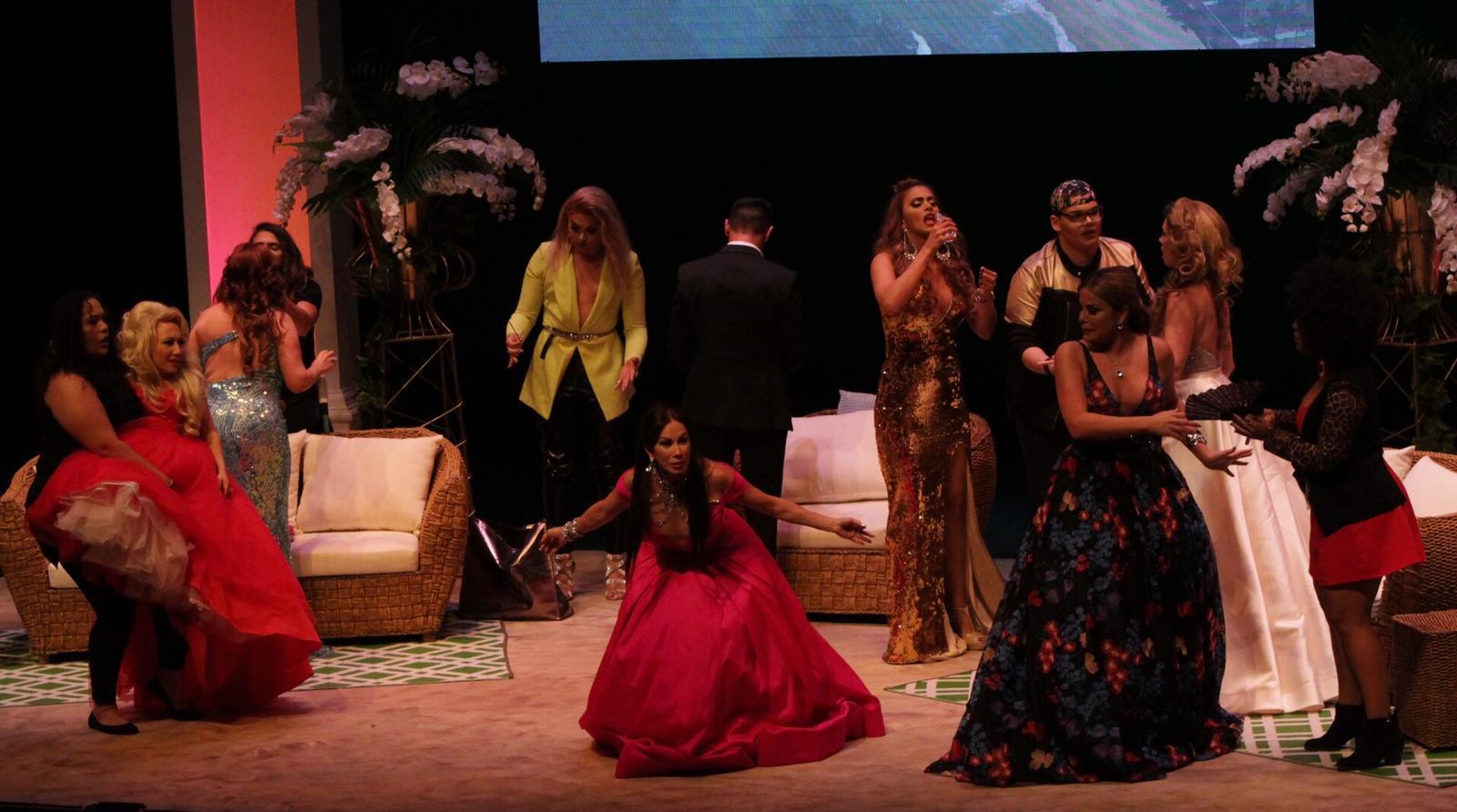 Las verdaderas Housewives de Puerto Rico The Reunion se presentó en la Sala de Teatro René Marqués del Centro de Bellas Artes en Santurce / Crédito Fotos: Lynoska Pabón