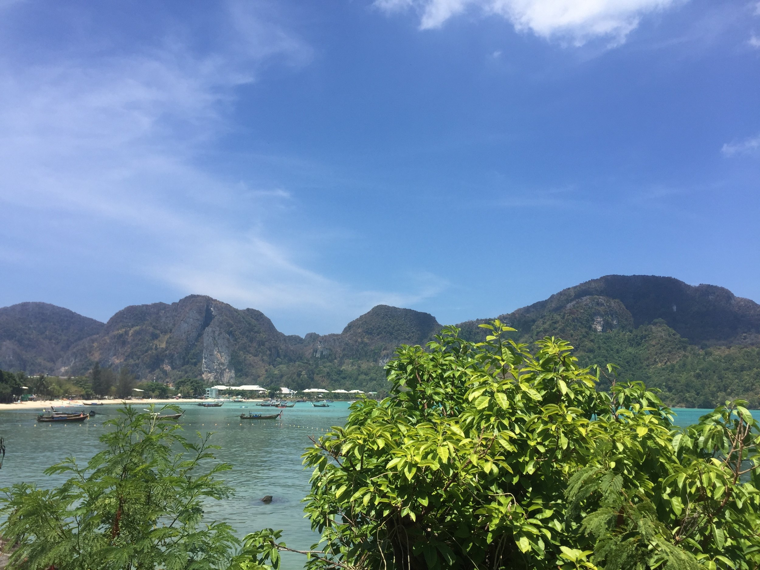 View from our room at  Cobble Beach Hotel , Koh Phi Phi