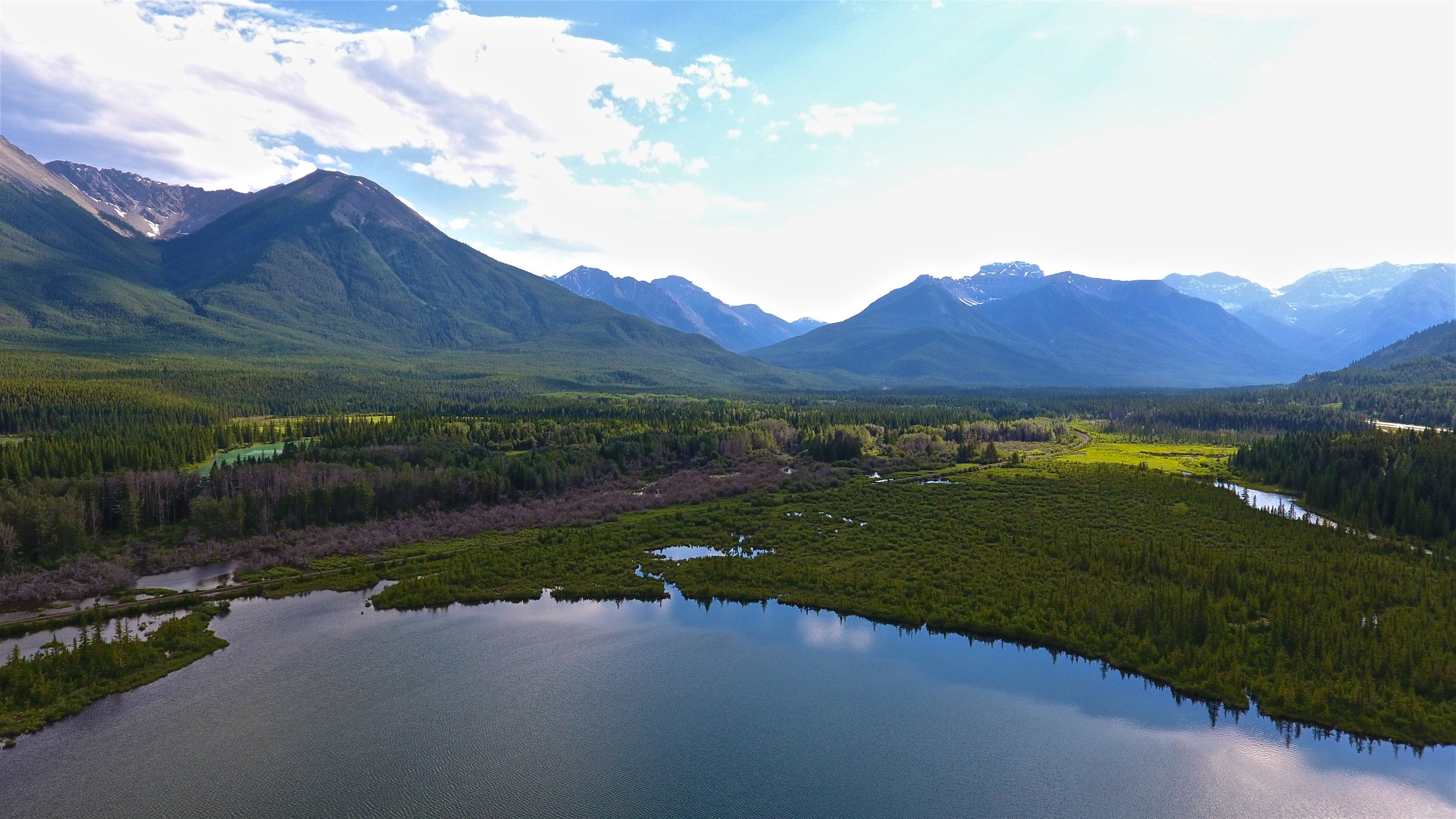 Morning view of Vermilion Lakes