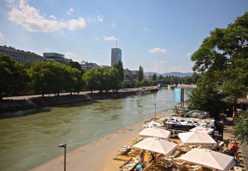Danube Canal /  Donaukanal  ,  Vienna, Austria