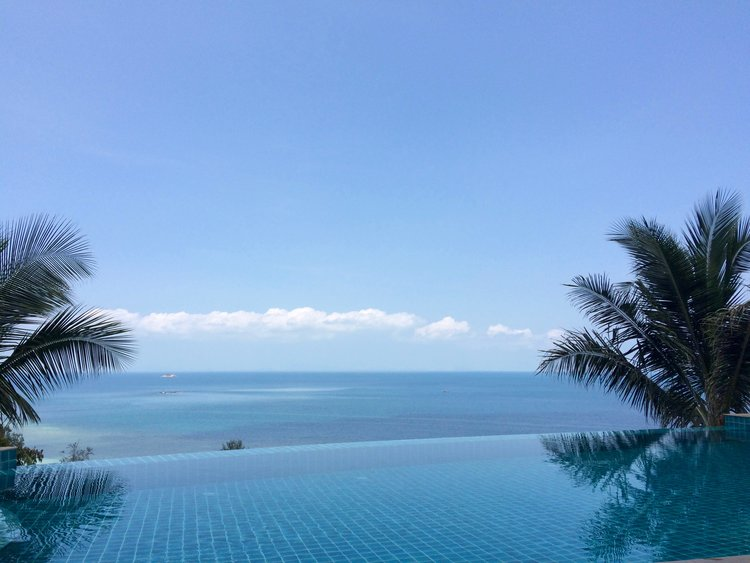View from the pool at  Sunset Hill,  Koh Phangan
