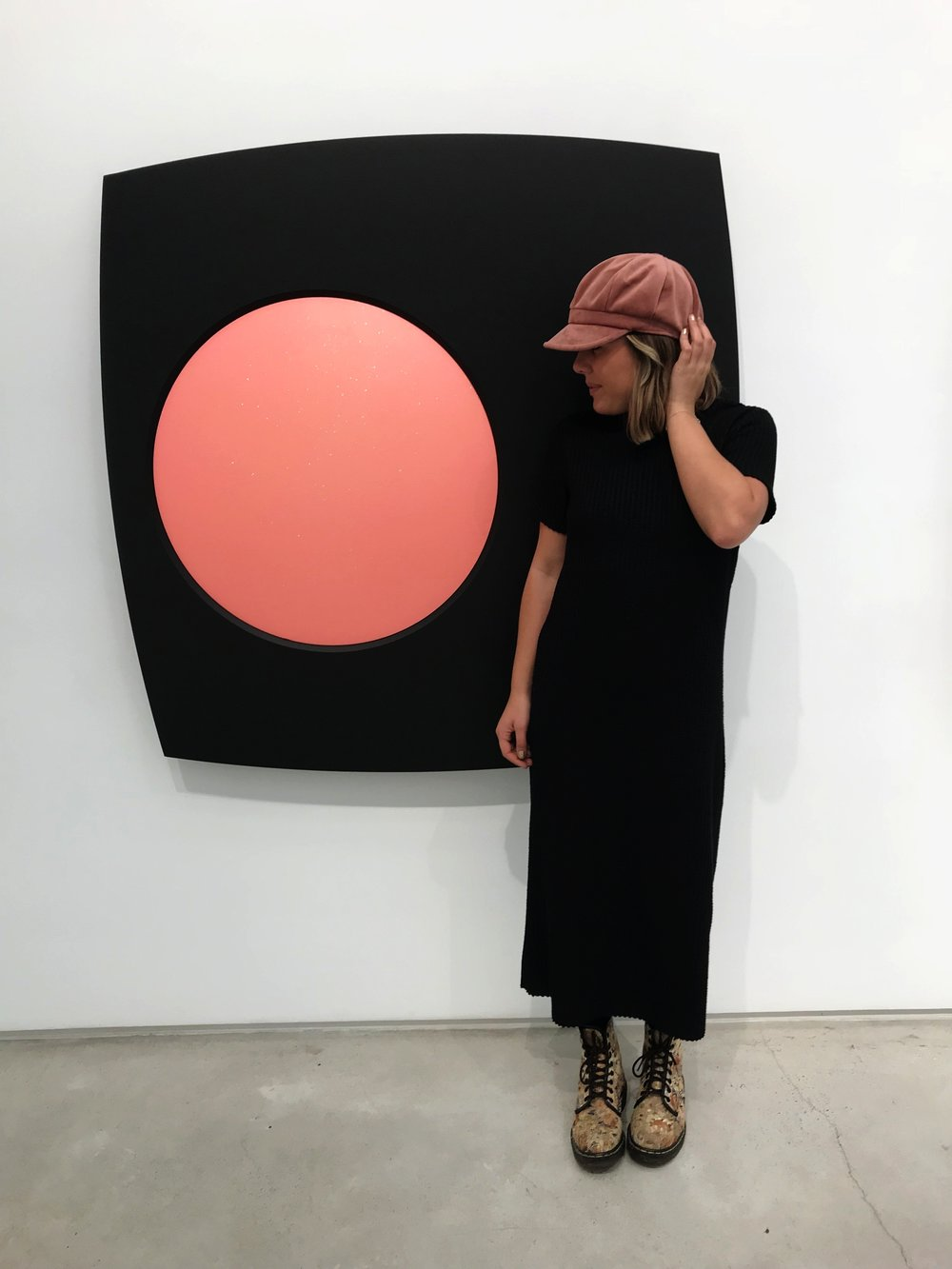Madison looking adorable at the Salon 94 Gallery
