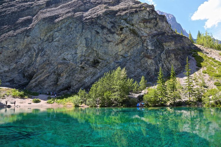 Grassi Lakes - A lot of people rock climb here.