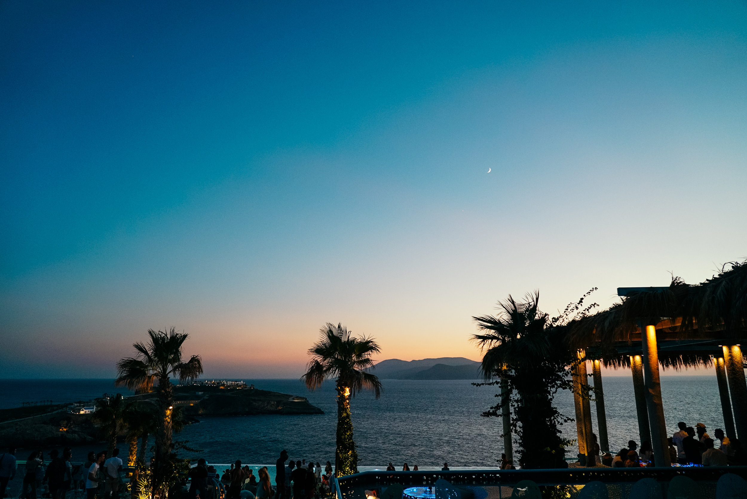 Pathos Bar at sunset