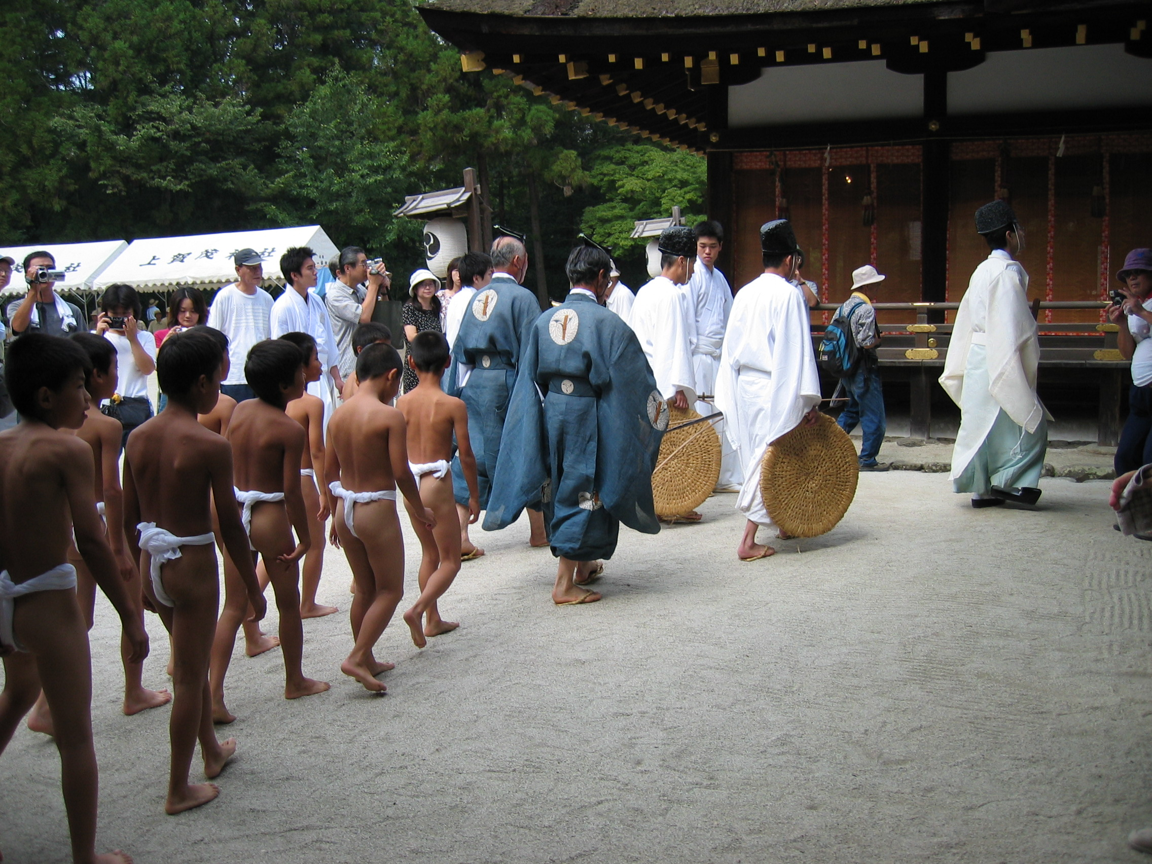 Crow sumo ceremony, Kyoto.