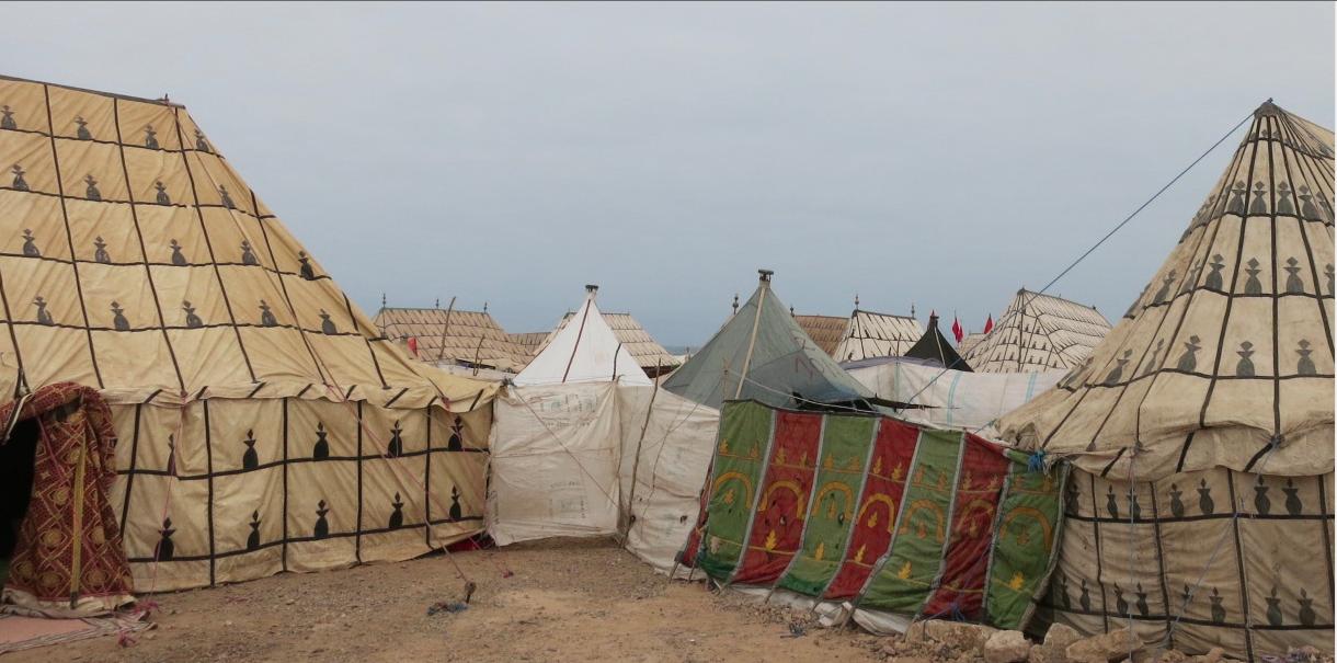 Berber tents.
