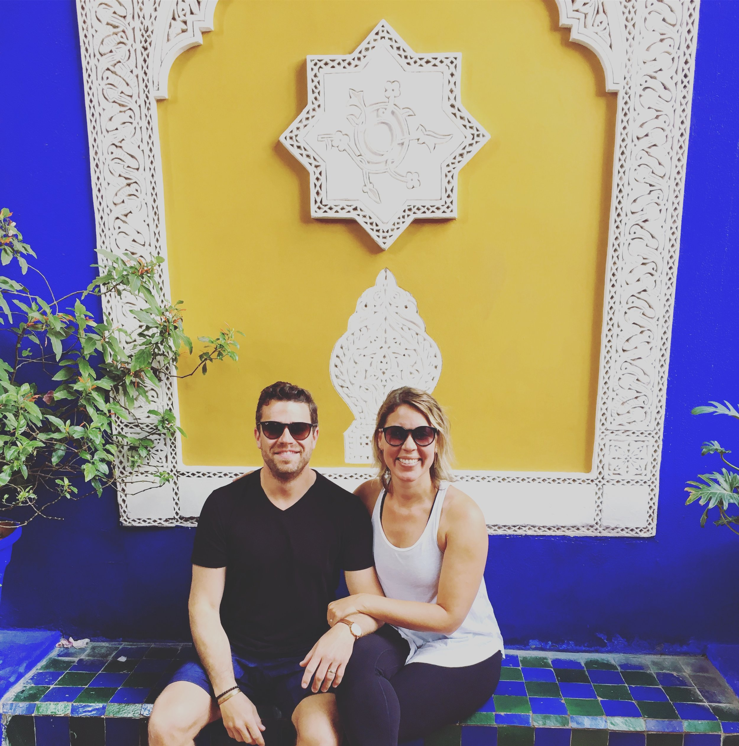 We snagged this picture in the midst of tons of tourists at Jardin Majorelle.  Get there early!