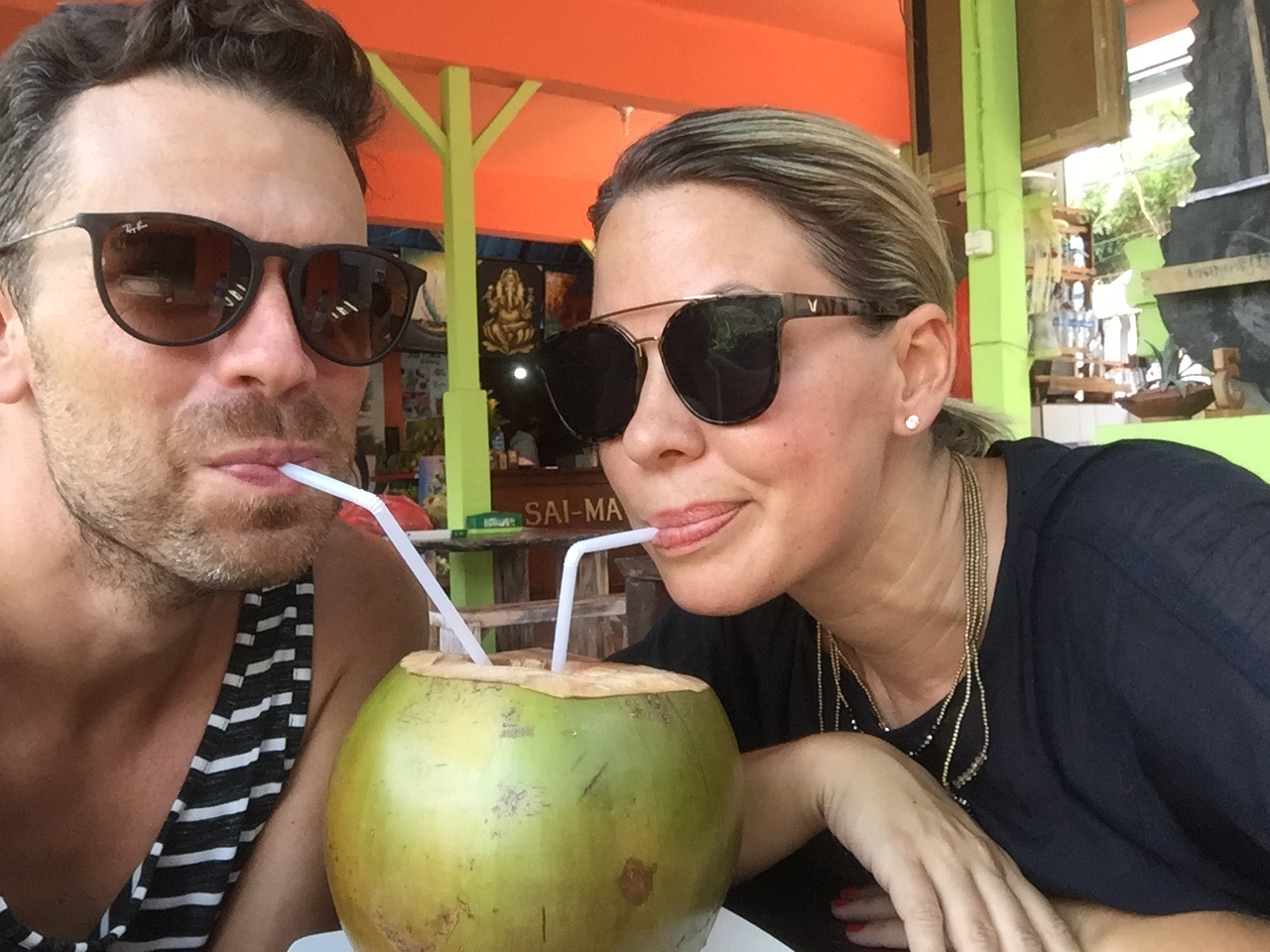 cooling off with a fresh coconut