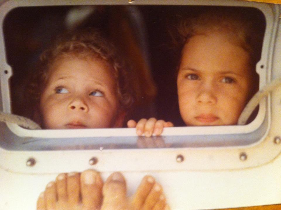 Me, 4, Eva, 2, patiently waiting for that year's batch of Monster cookies.  We had 4 more months...
