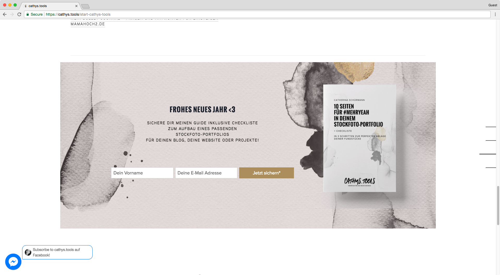 Great use of parallax effect on Squarespace index section without using full width