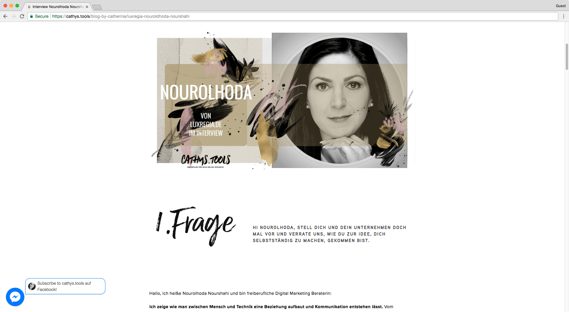 Beautiful example on how to create columns inside a Squarespace blog post