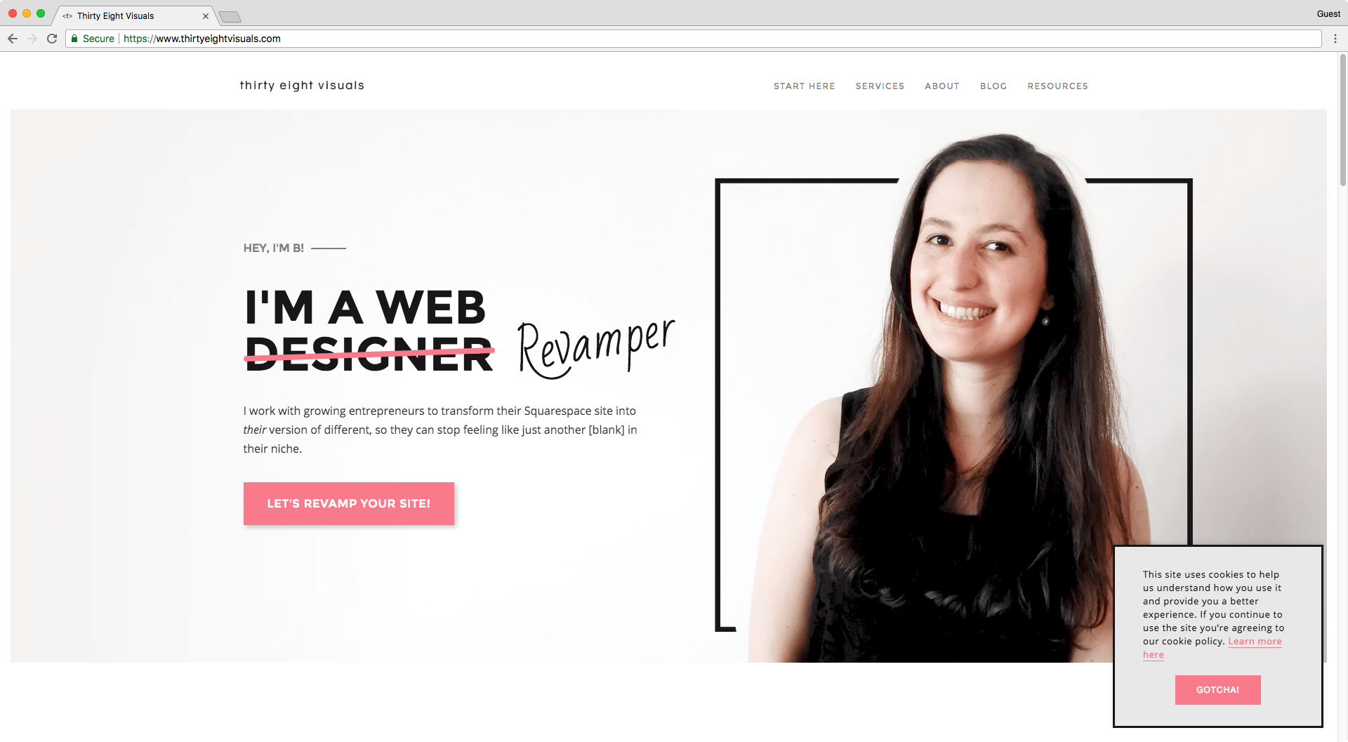 Squarespace EU cookie banner code style example