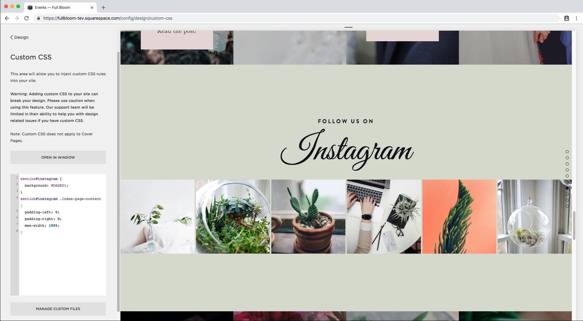 9. Making Instagram block full width in Brine index.png