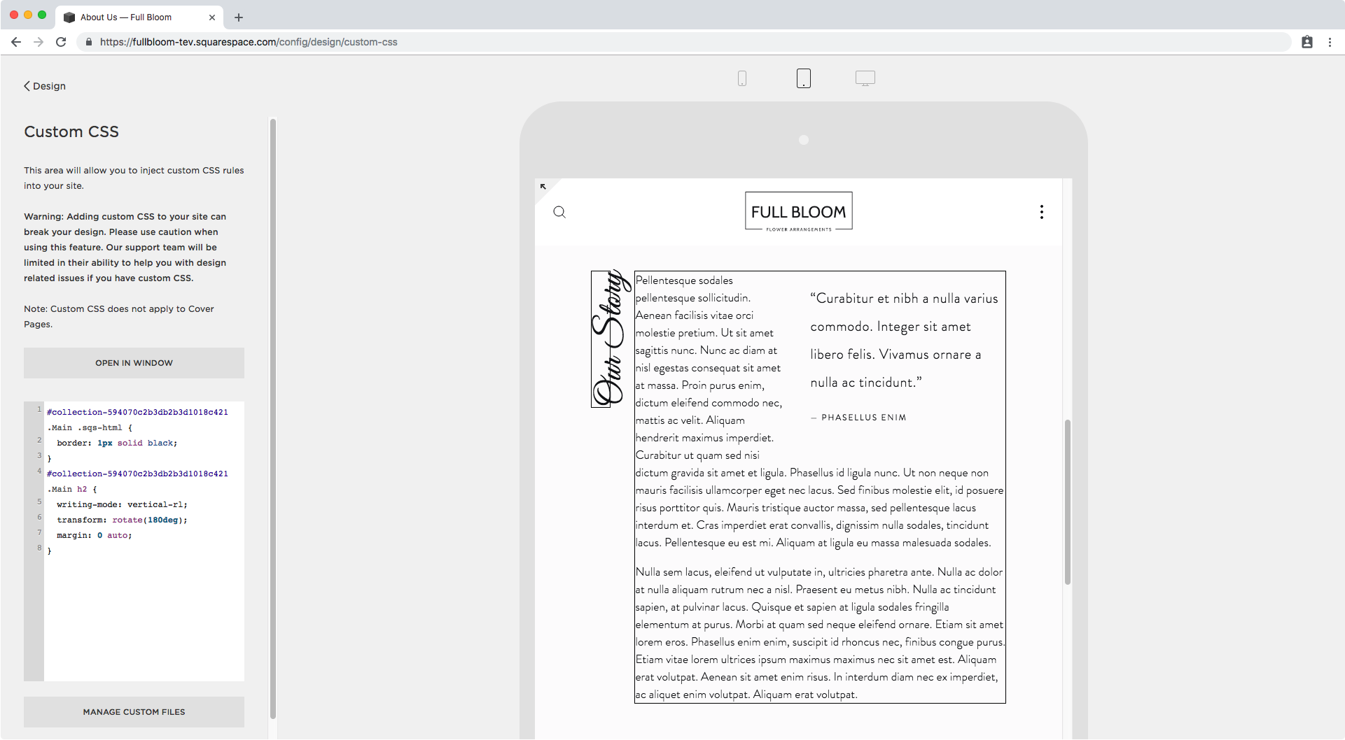 11. Vertical text in Squarespace tablet.png