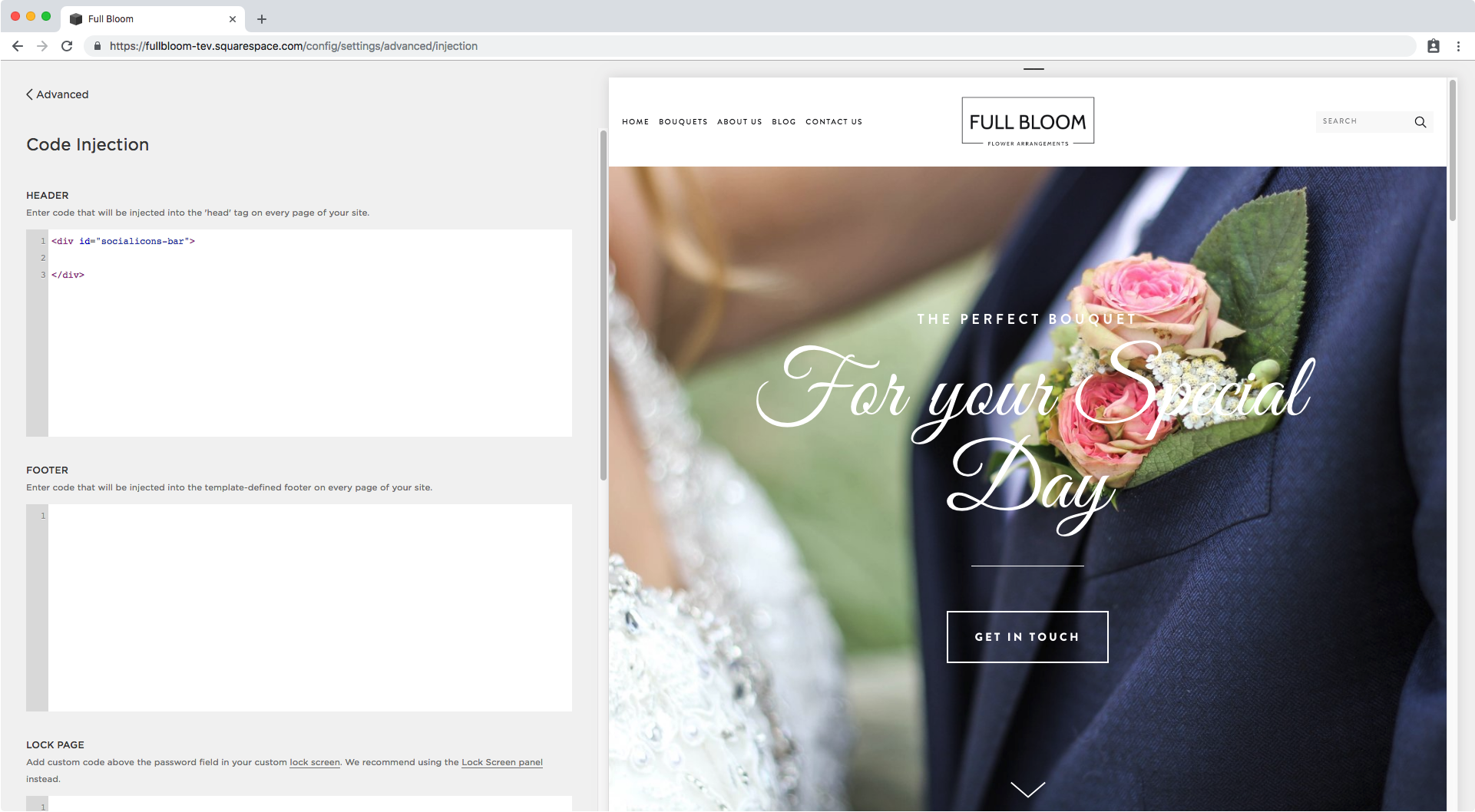 1. Creating an additional header in Squarespace.png