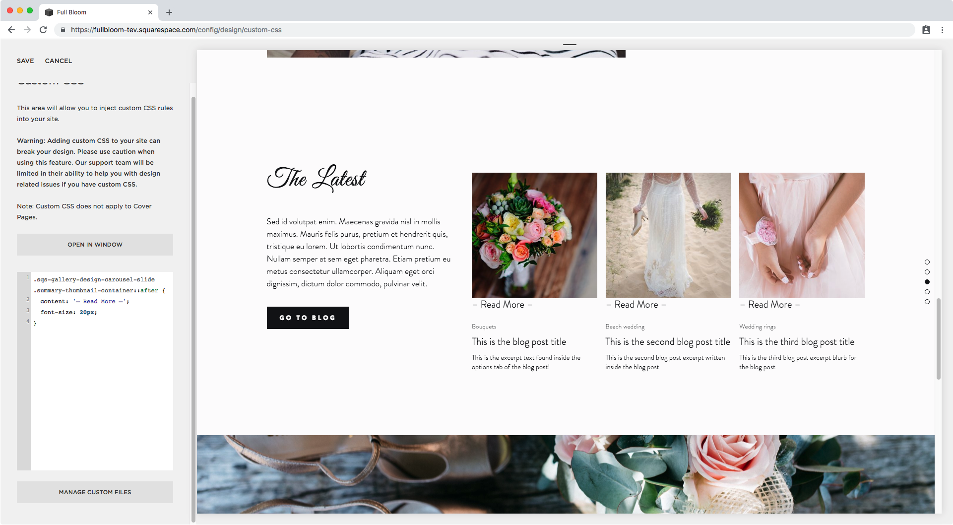 6. Adding overlay text on summary block in Squarespace.png