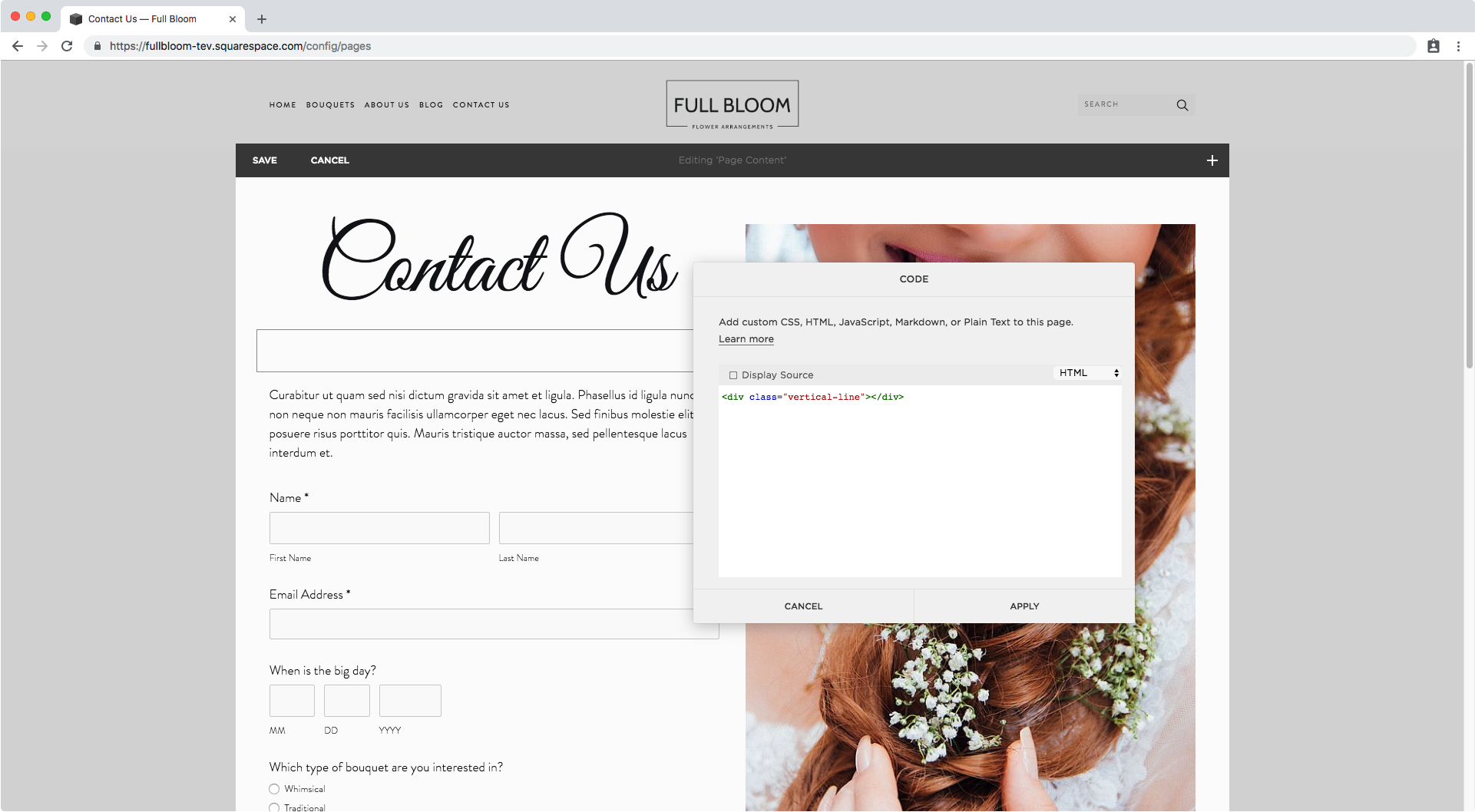 1. Creating a vertical line in Squarespace.png