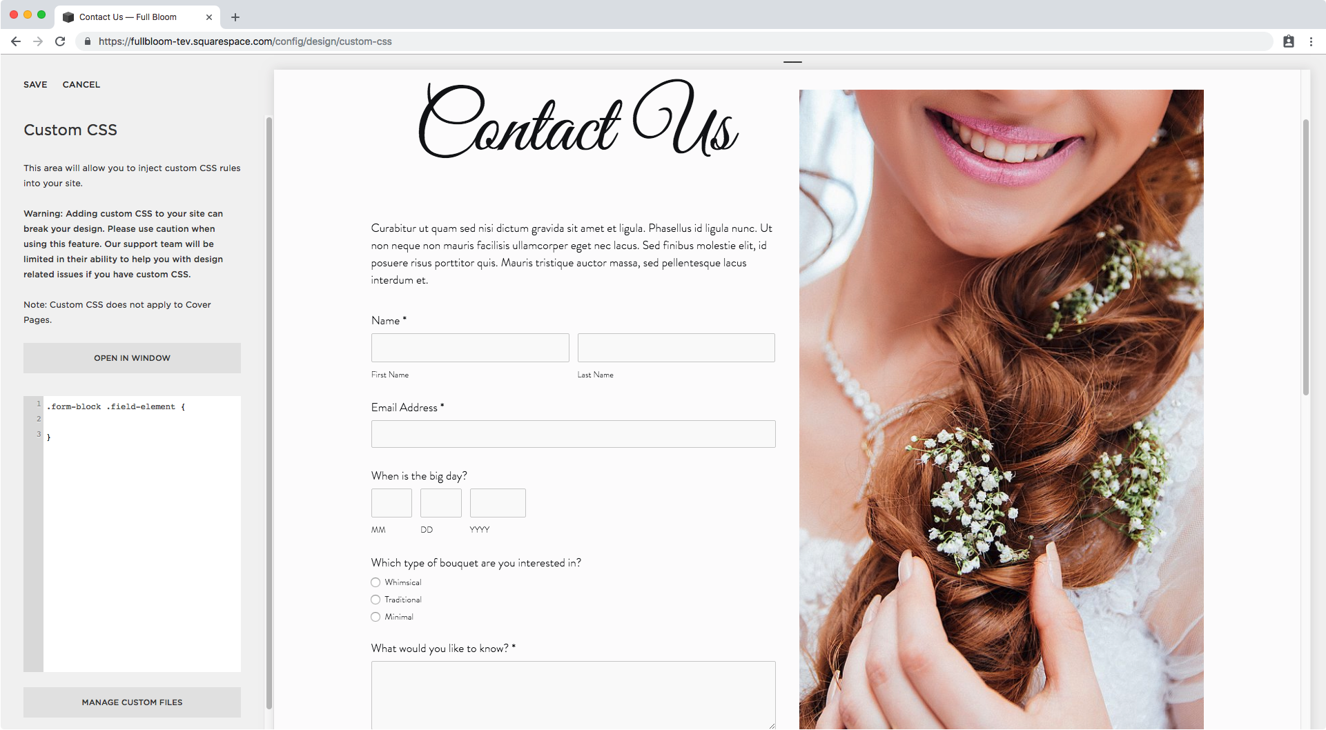 5. Adding the selector to Custom CSS.png