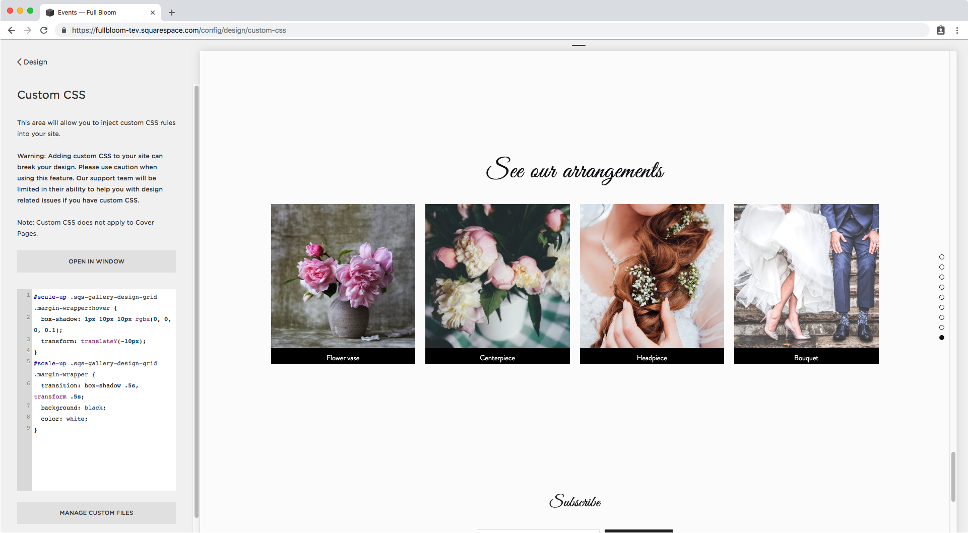 22. Styling the title of gallery blocks in Squarespace.png