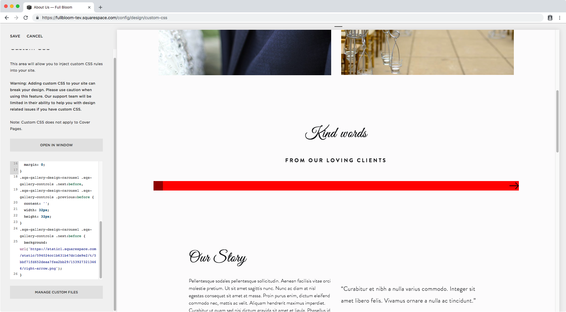 28. Different arrow summary block carousel Squarespace.png