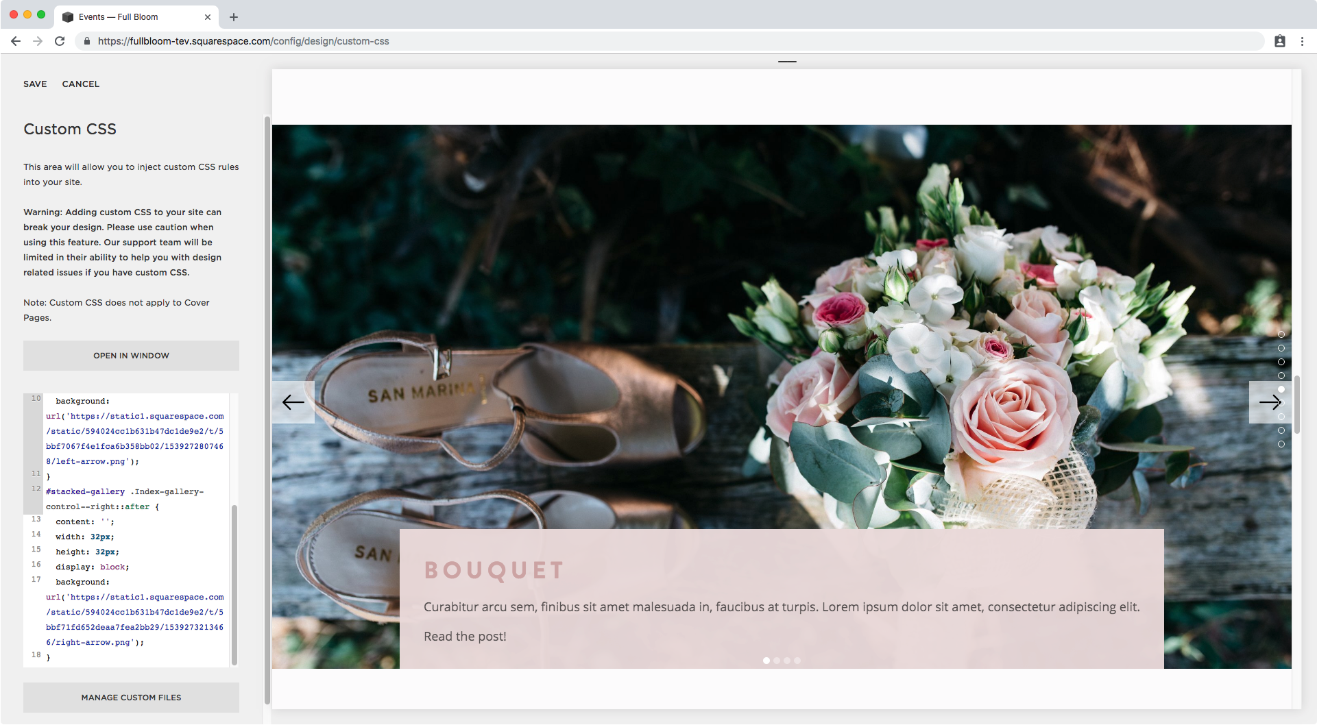 14. Adding custom arrows to index gallery slideshow in Squarespace.png