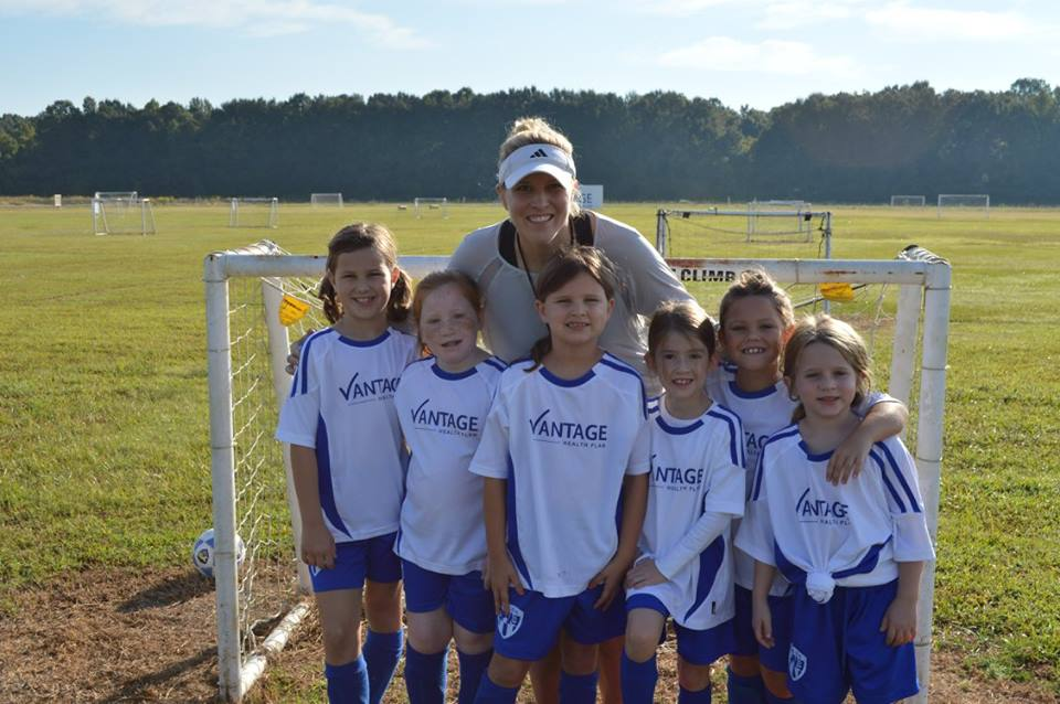Corner Vet U8 girls soccer team