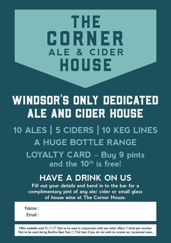 Corner House Drinks Voucher